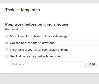 tasks list template